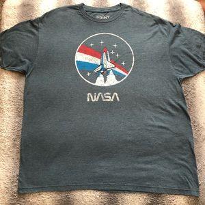 🚀 NASA Space Shuttle Tee Men's 2XL Grey